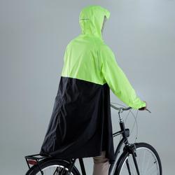Regenponcho fiets 900 fluogeel/zwart