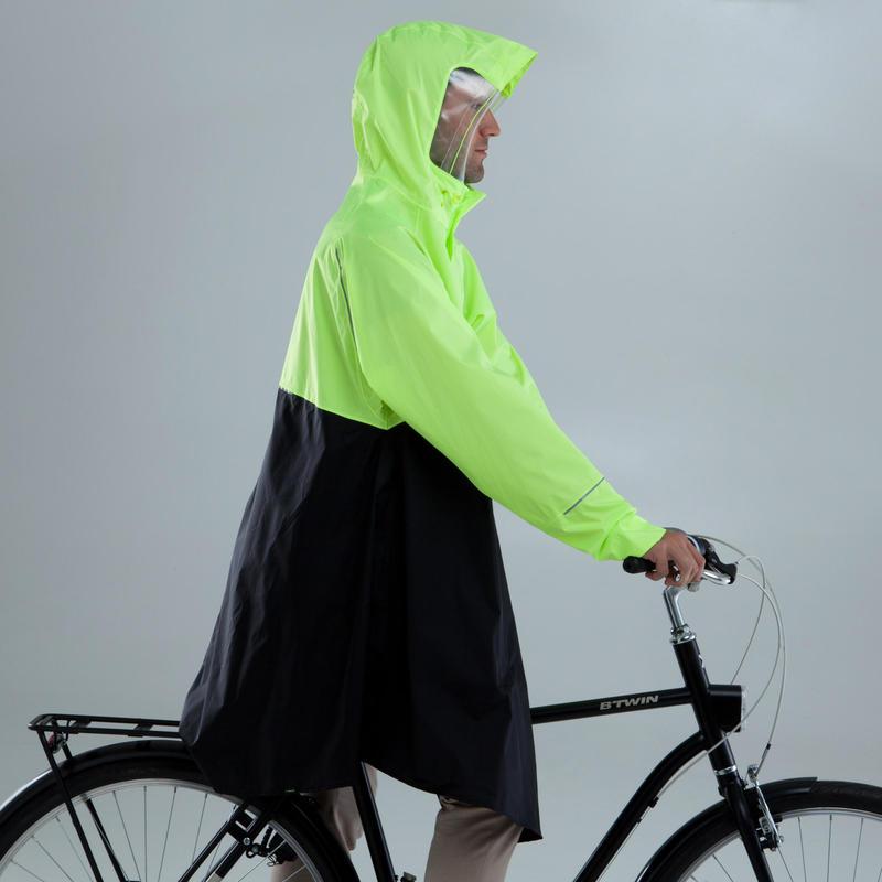 900 Cycling Rain Poncho - Neon Yellow/Black