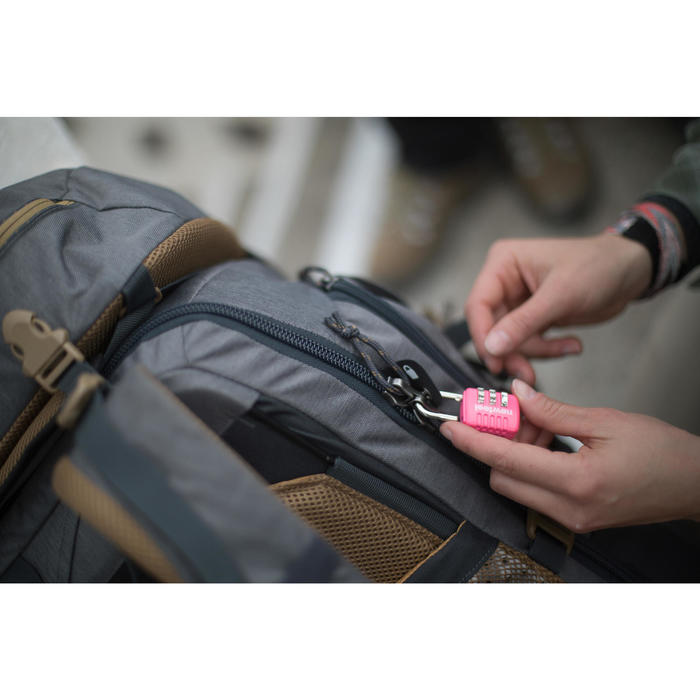 Backpacking-Rucksack TRAVEL 500 50 LITER Herren abschliessbar grau