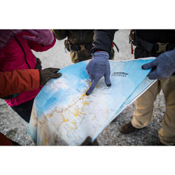 Sous-gants tactiles de trekking montagne - TREK 500 noir unisexe