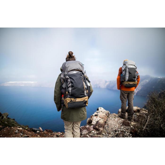 Backpacker-Rucksack TRAVEL500 50 Liter abschließbar Herren grau