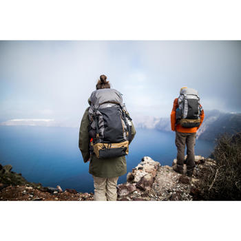 Rugzak voor backpacken heren Travel 500 50 liter grijs