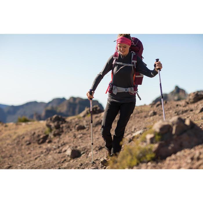 T-Shirt manches longues zip trekking Techwool 190 laine femme - 1232754