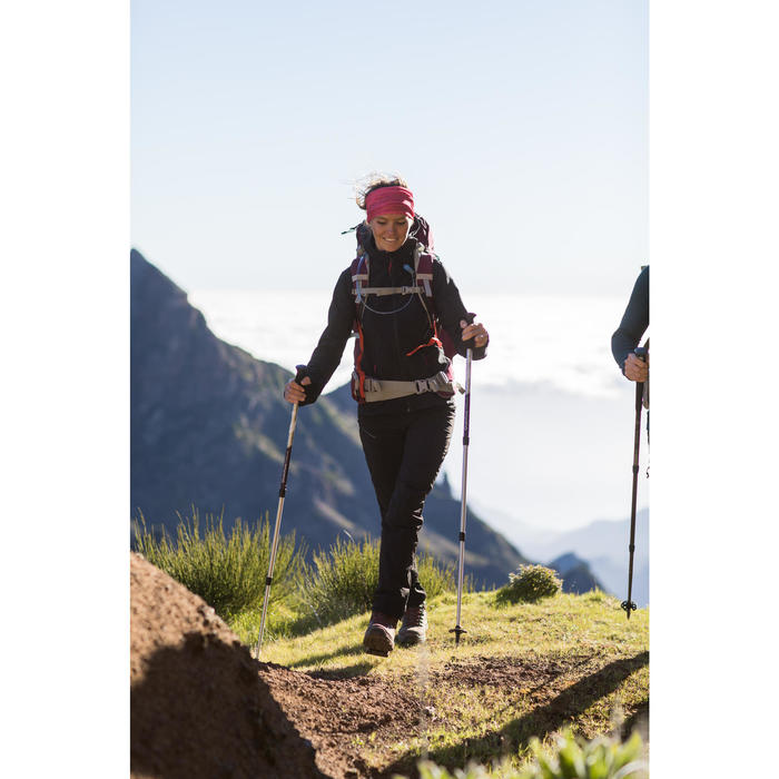 Softshell de trek montagne - TREK 500 WINDWARM noir femme