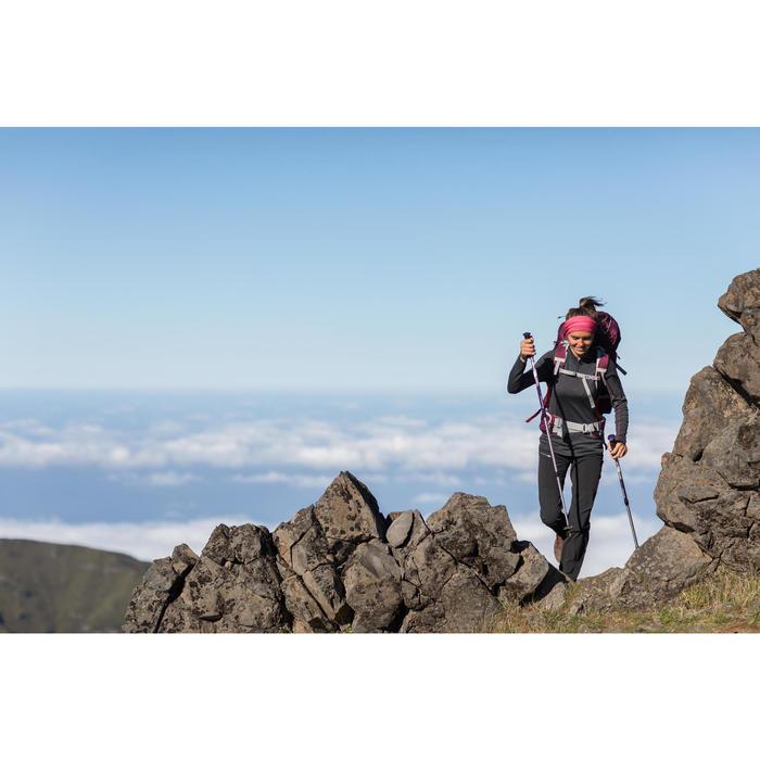 T-Shirt manches longues zip trekking Techwool 190 laine femme - 1232793