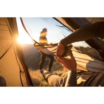 Trekkingzelt Quickhiker Ultralight für 2 Personen hellgrau
