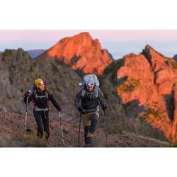 Chaqueta softshell trekking montaña TREK 900 WINDWARM mujer negro