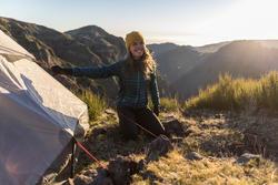 Gants randonnée en montagne RANDO 500 adulte kaki