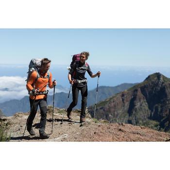 Camiseta lana merina trekking montaña TECHWOOL190 crem. manga larga mujer negro