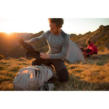 T- Shirt manches longues trekking montagne TECHWOOL190 homme gris