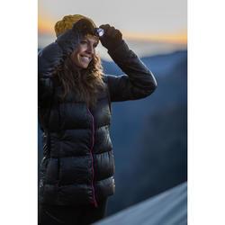 Chaqueta de Plumas Acolchada de Montaña y Trekking TREK 900 WARM Mujer Negro