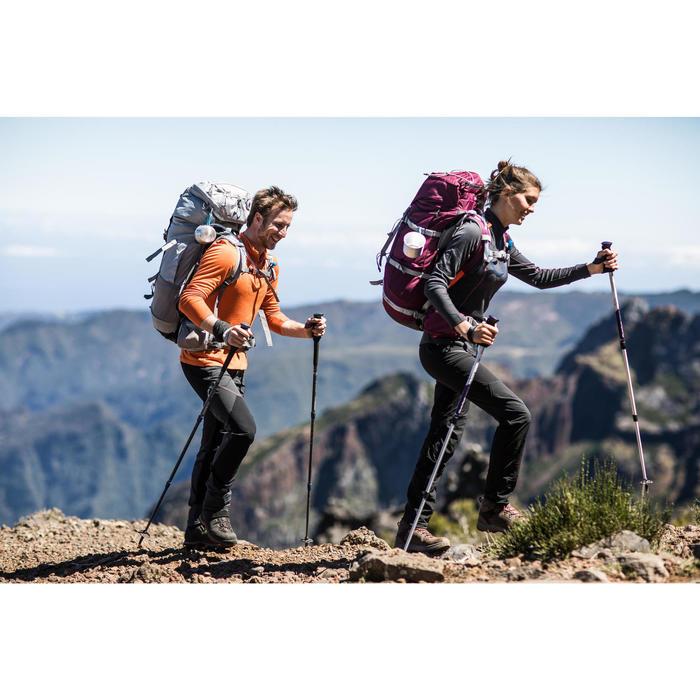T- Shirt manches longues trekking Techwool 190 zip homme - 1232899