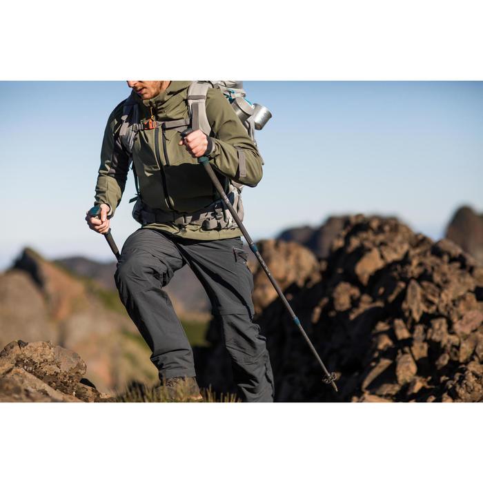 Chaqueta softshell trekking montaña TREK 900 WINDWARM hombre negro