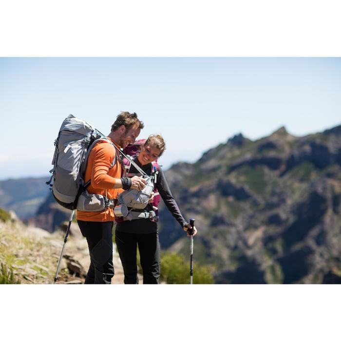 T-shirt met lange mouwen bergtrekking Techwool 190 rits heren oranje