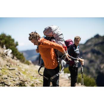 Camiseta manga larga trekking en montaña TECHWOOL190 cremallera hombre naranja