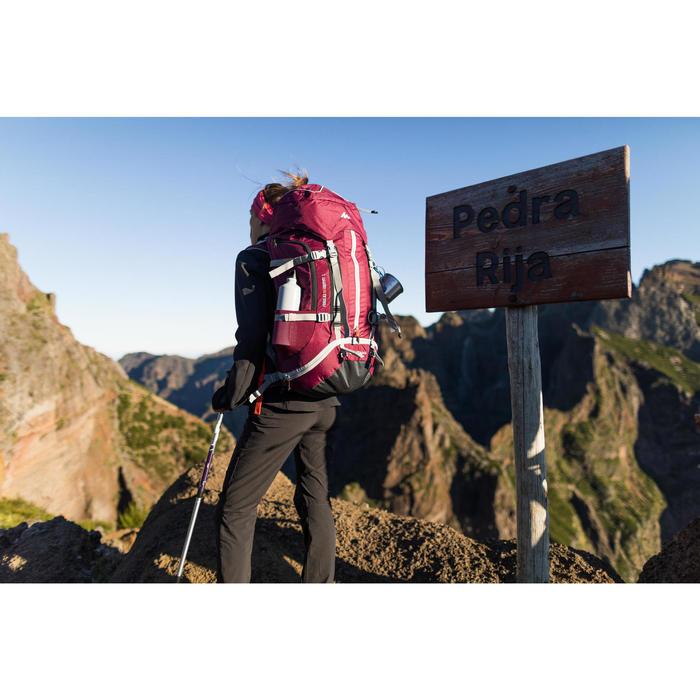 Sac à dos Trekking montagne 50 L EASYFIT femme violet