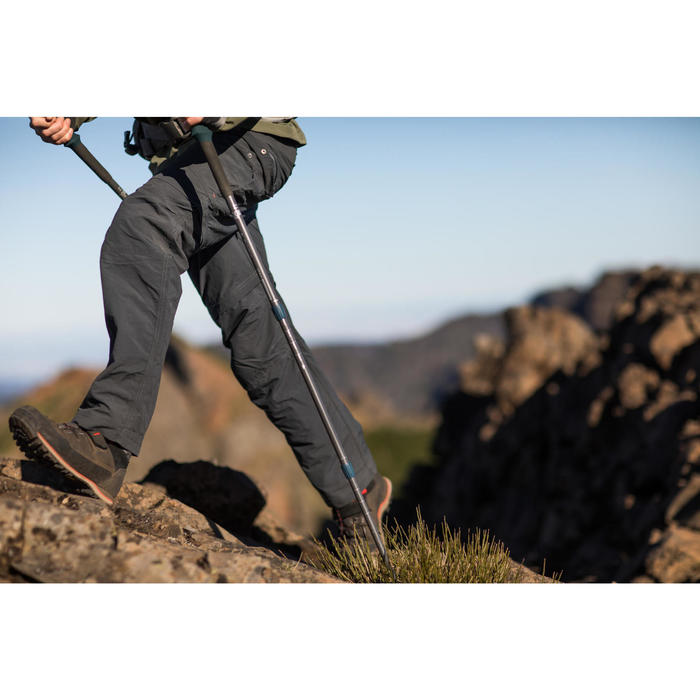 Afritsbroek voor bergtrekking Trek 100 heren donkergrijs