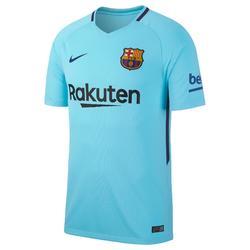 Voetbalshirt Barcelona uitshirt 17/18 voor volwassenen lichtblauw