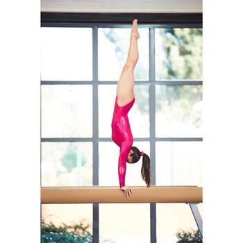 Justaucorps manches longues Gymnastique Féminine (GAF) Rose 520