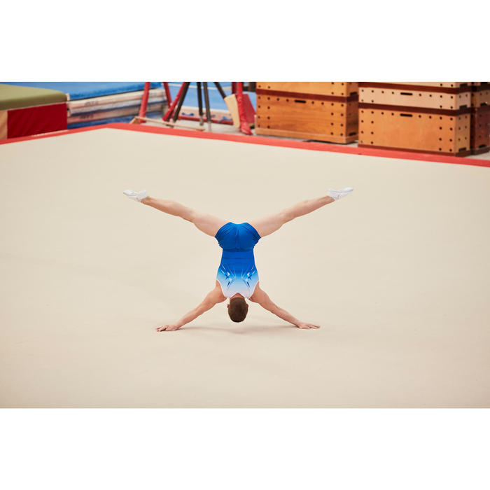 Gymnastikhose kurz 500 Jungen Herren blau