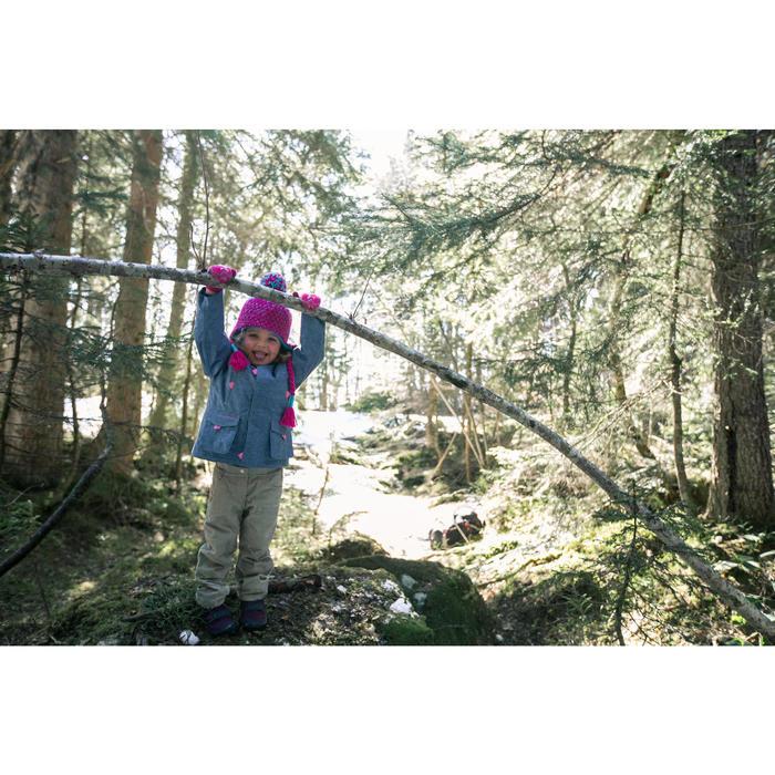 Veste de randonnée neige junior SH500 x-warm grise