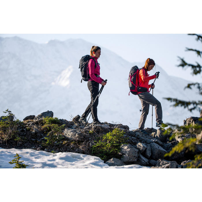 Tee-shirt de randonnée neige manches longues femme SH500 warm noir