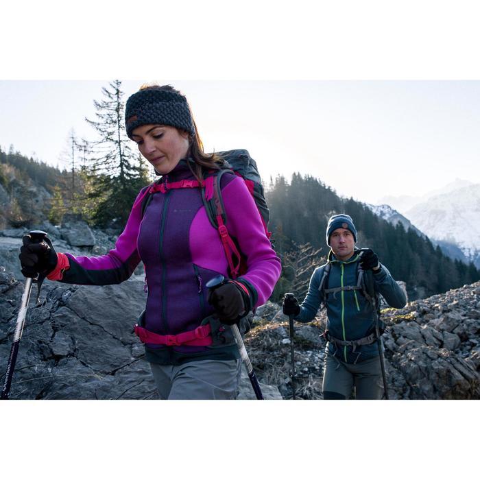Veste polaire de randonnée montagne femme Forclaz 900 rose chiné - 1233413