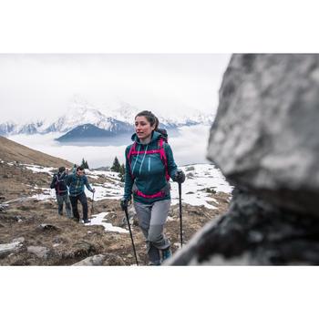 Veste polaire de randonnée montagne femme Forclaz 400 strech violet