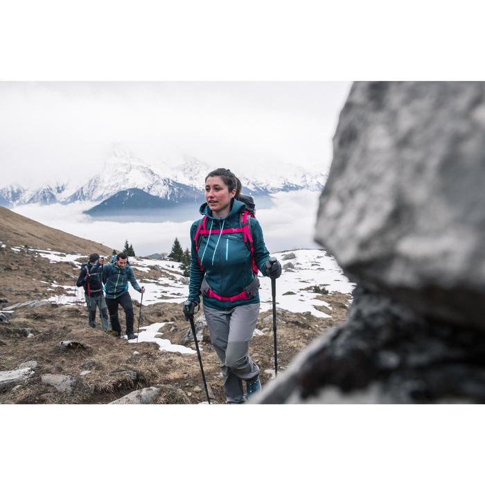 Veste polaire de randonnée montagne femme Forclaz 400 stretch - 1233417