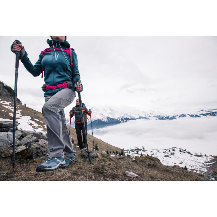 Veste polaire de randonnée montagne femme Forclaz 400 stretch - 1233431