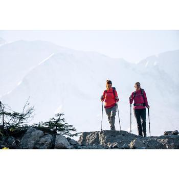 T-shirt met lange mouwen wandelen in de sneeuw dames SH500 warm blauw print