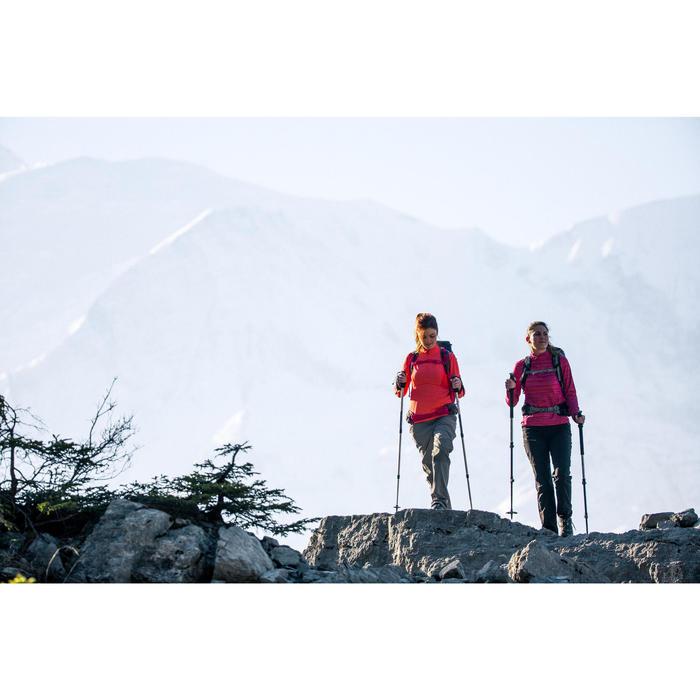 Tee-shirt de randonnée neige manches longues femme SH500 warm - 1233437