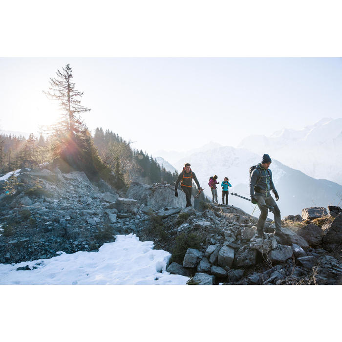 Fleecejacke Bergwandern MH920 Stretch Herren grau