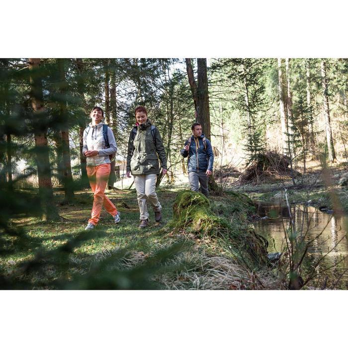 Damesregenjas voor wandelen NH500 kaki