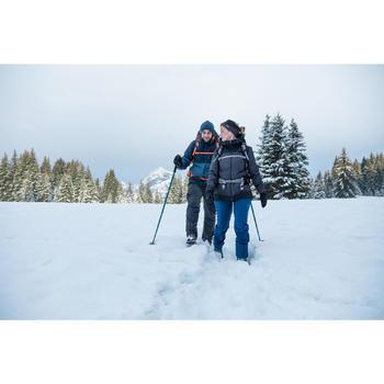 Wandelbroek voor de sneeuw heren SH500 warm grijs kaki