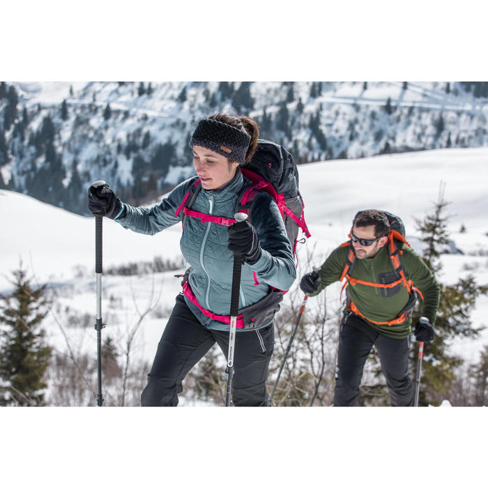 Heren T-shirt met lange mouwen voor wandelen in de sneeuw SH500 warm blauw