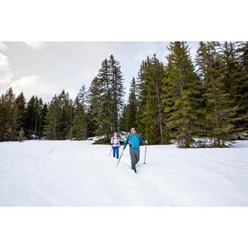 T-Shirt manches longues de randonnée neige homme SH100 chaud pétrole sombre. - 1233496