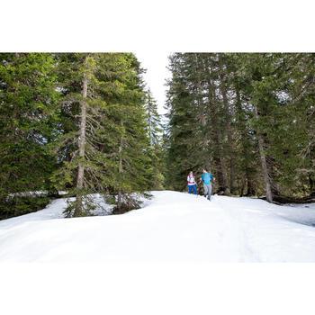 Dames T-shirt met lange mouwen voor wandelen in de sneeuw SH500 warm zwart