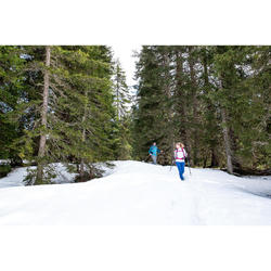 Herenshirt met lange mouwen voor hikes in de sneeuw SH100 Warm zwart