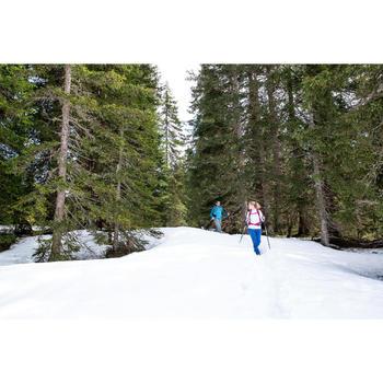 Tee-Shirt de randonnée neige homme manches longue SH100 warm rouge.