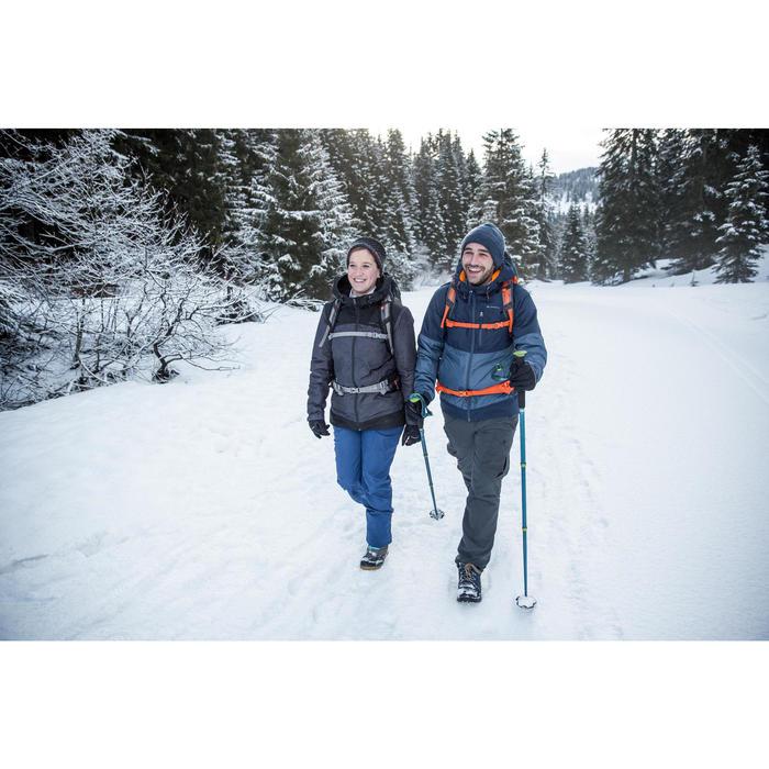 Chaussures de randonnée neige homme SH100 warm mid noires.