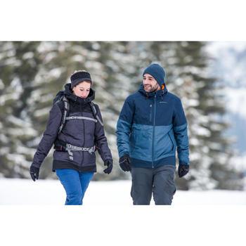Veste chaude imperméable de randonnée neige homme SH100 x-warm grise kaki