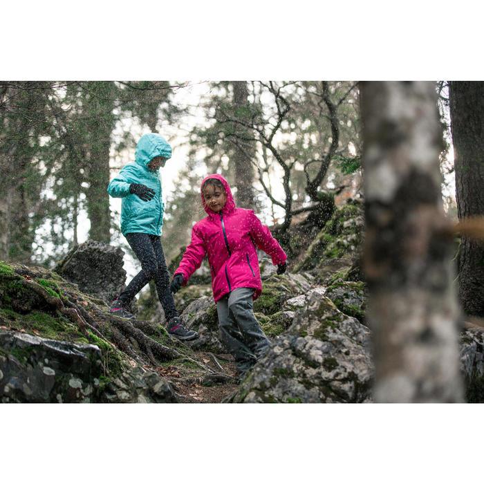 Warme waterdichte wandeljas voor de sneeuw meisjes SH100 Warm 8-14 jaar grijs