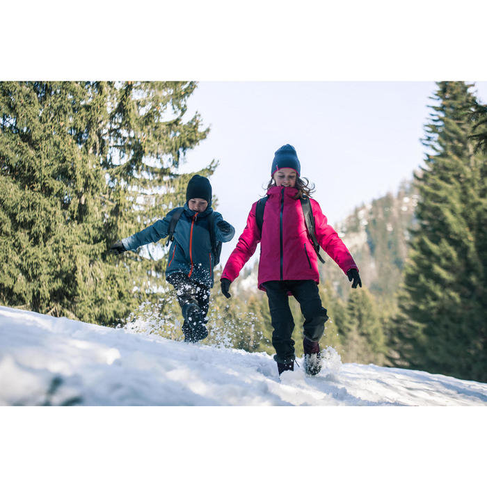 Winterschuhe SH500 Extra-Warm hoch Kinder Gr. 30-38 schwarz