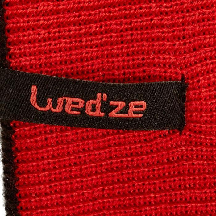 Omkeerbare skihoofdband voor kinderen zwart rood
