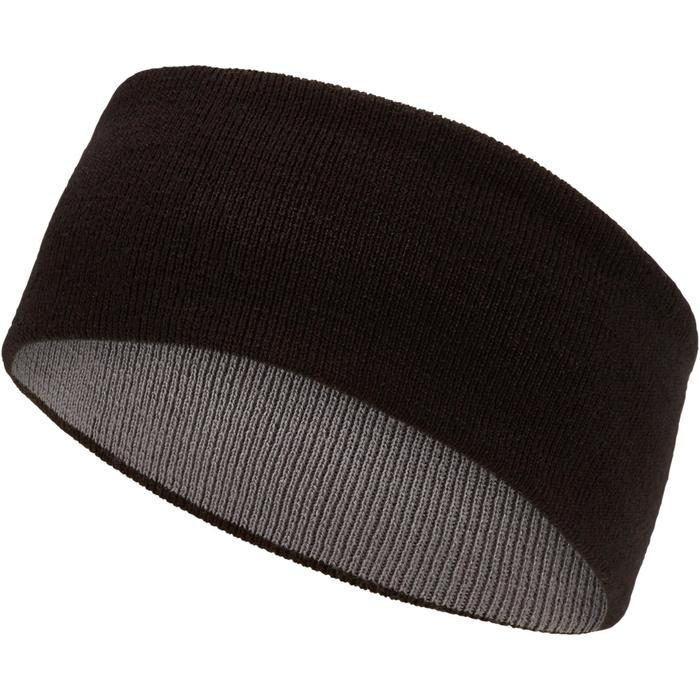 Ski hoofdband Reverse voor volwassenen zwart grijs