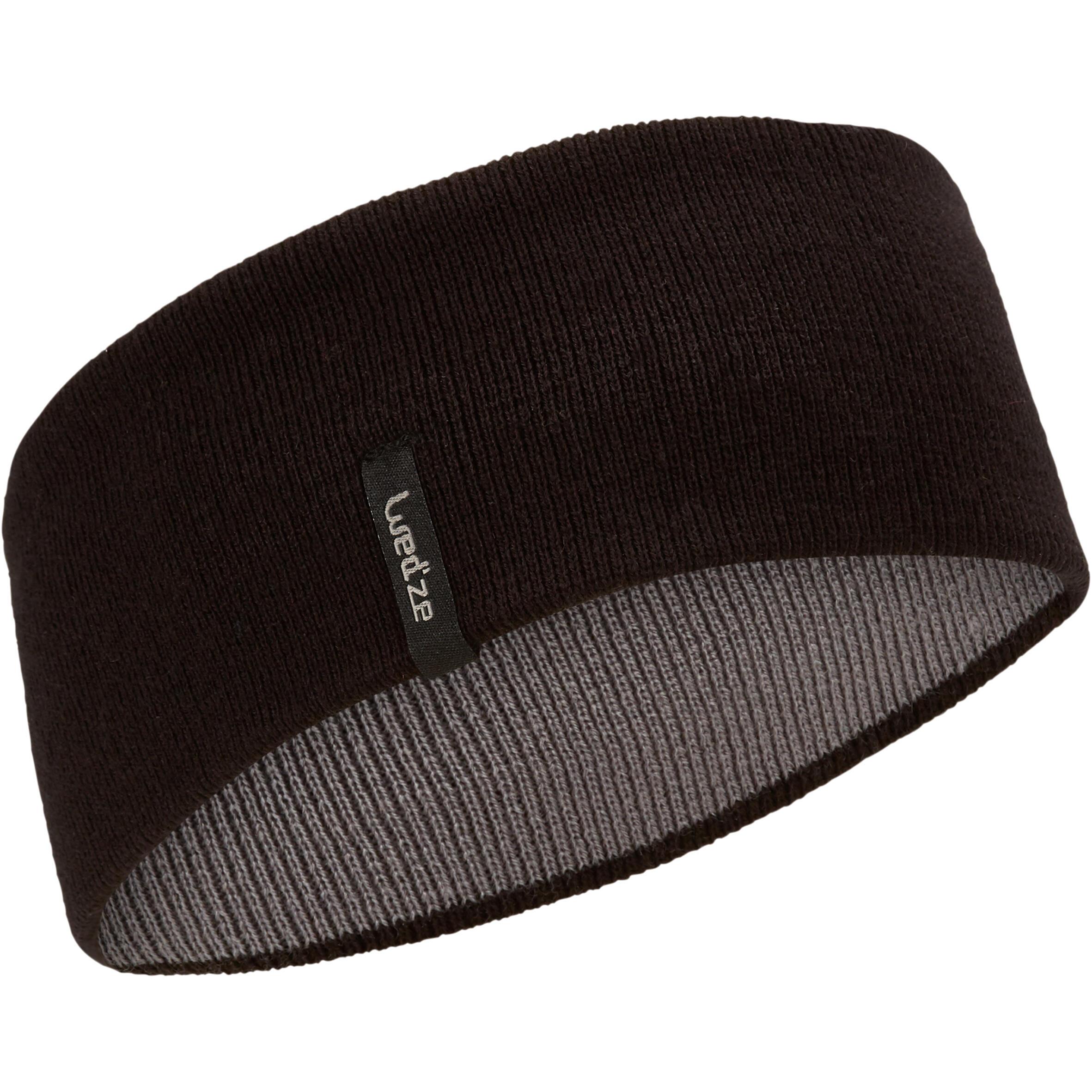 Adult Reverse Ski Headband - Black Grey