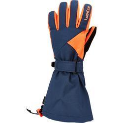 Skihandschoenen voor kinderen GL 500 petroleumblauw