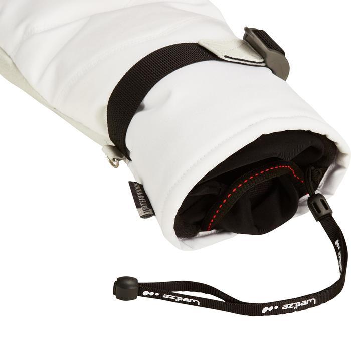 Skihandschuhe Fäustlinge 500 Erwachsene weiß