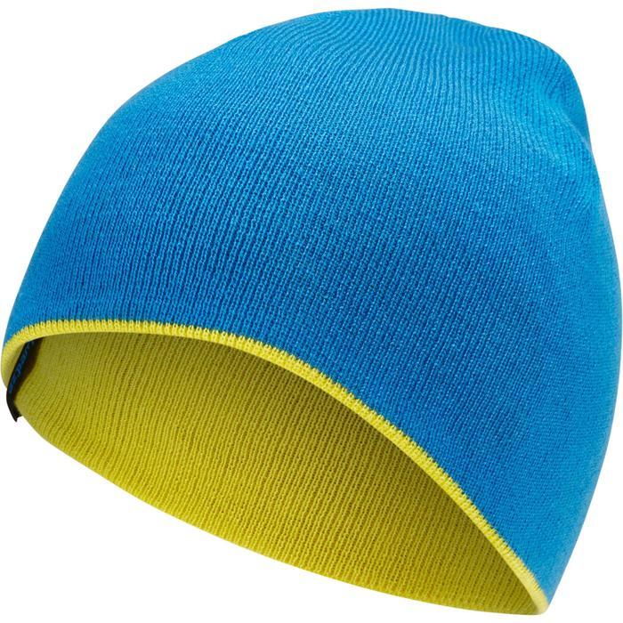 Skimuts kinderen Reverse geel/blauw